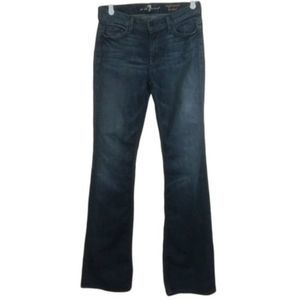 7 For All Mankind Dark Wash Boot Cut Jeans Size 28
